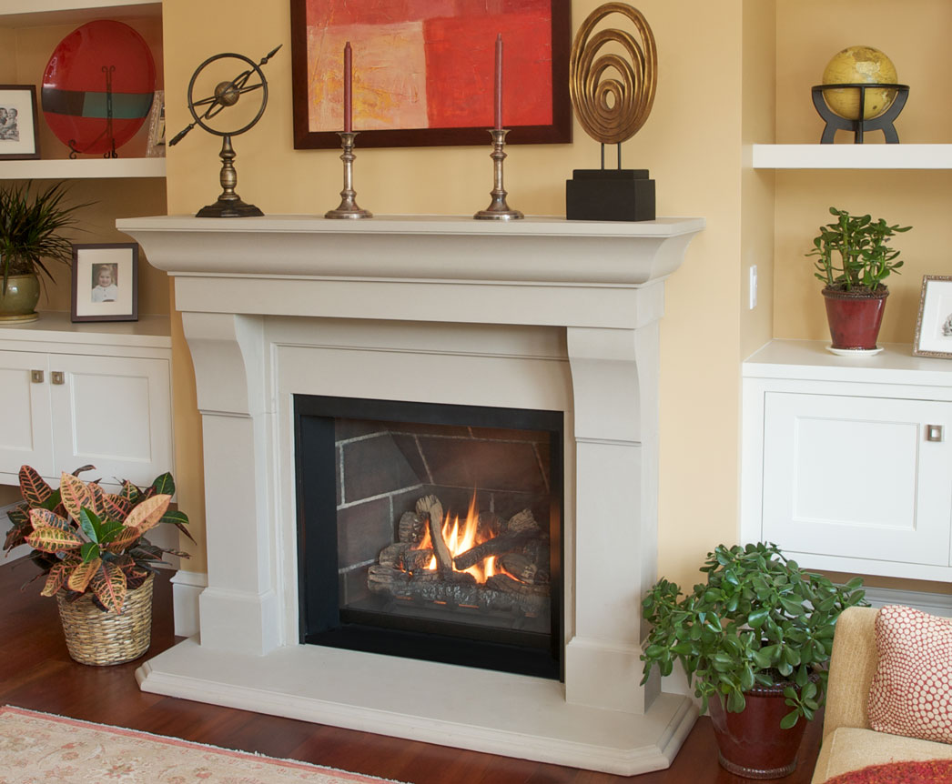 Ventana with Fires of Tradition Corvallis Mantel Clean